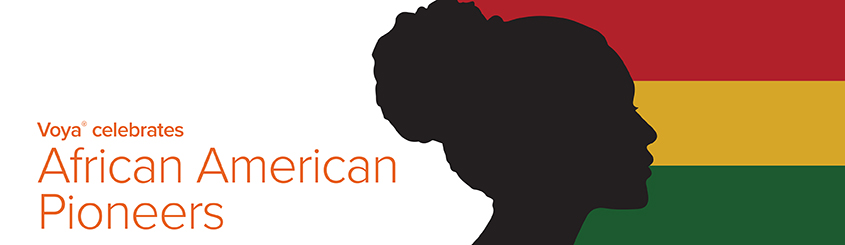 Silhouette of African American female and text that notates Black History Month celebration
